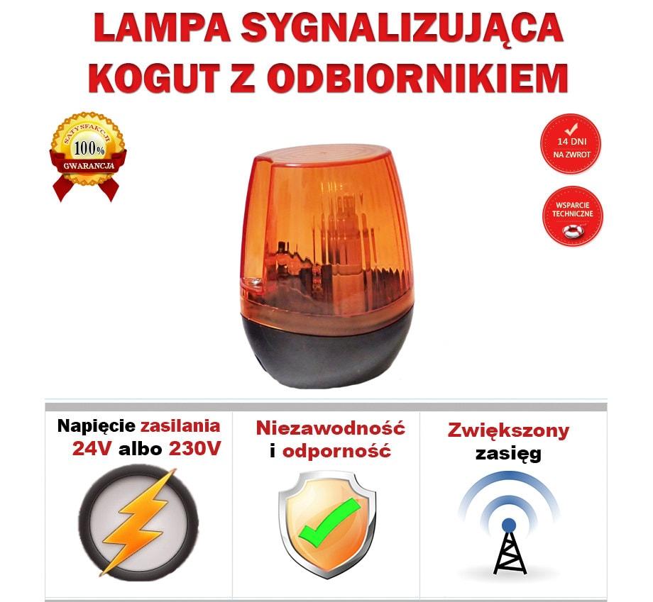 Lampa sygnalizacyjna z anteną główne