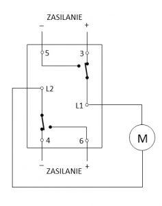 sterowanie siłownikiem elektrycznym przełącznik schodowy schemat