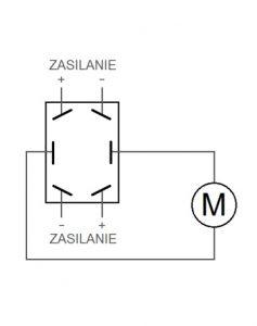 sterowanie siłownikiem elektrycznym przełącznik kierunku schemat